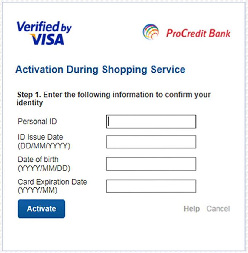 Serviciul 3D Secure | ProCredit Bank